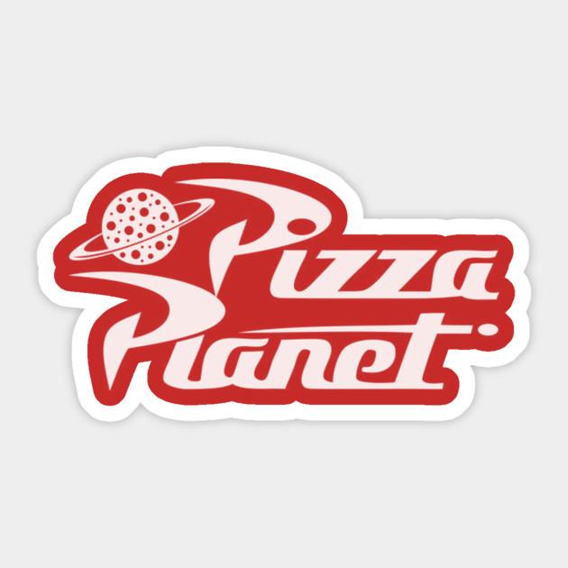 pizza planet story sticker teepublic. Black Bedroom Furniture Sets. Home Design Ideas