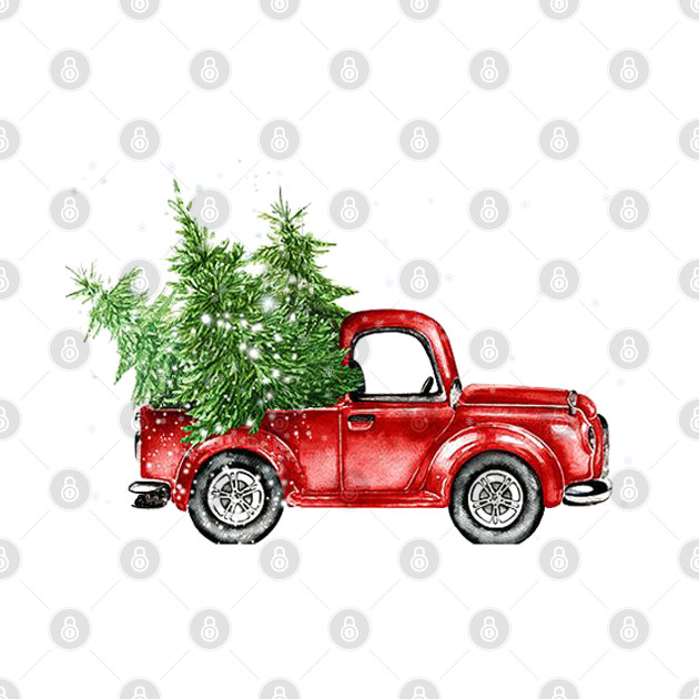 Red Truck Christmas Trees