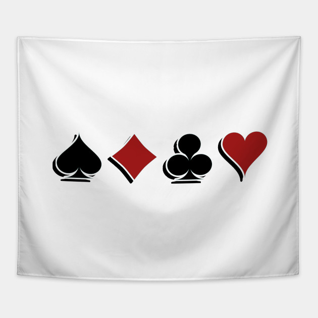 product Poker Card Symbols Gifts For Gamblers Tapestry