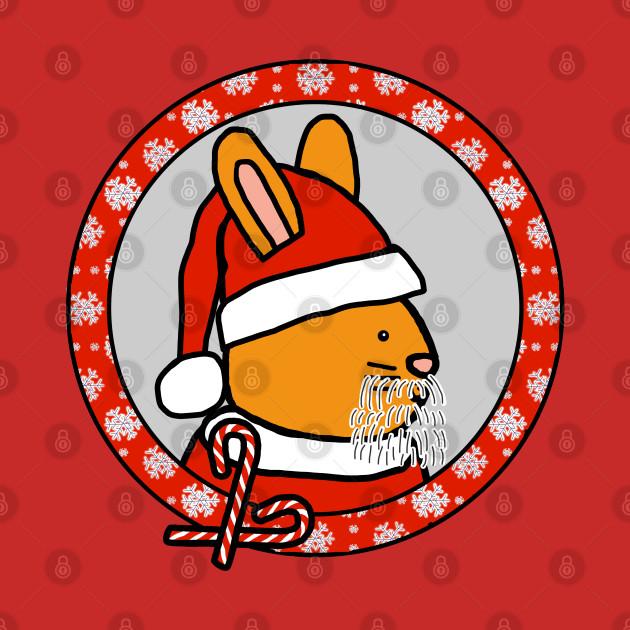 Christmas Portrait of Santa Bunny
