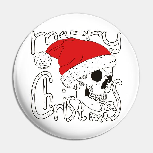 Merry Christmas Skull Face