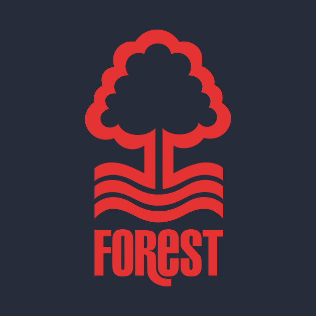 nottingham forest red logo - forest - t-shirt | teepublic
