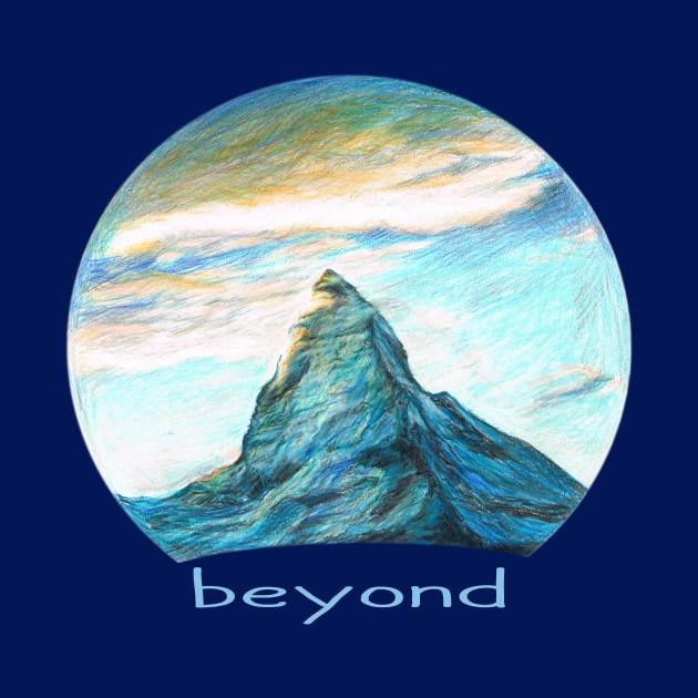 TITILEIN Beyond / Mountain Summit at Sunset Drawing