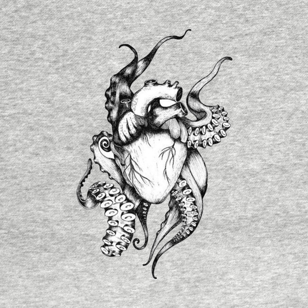 Anatomical Heart Octopus Tenticles Anatomical Heart T Shirt