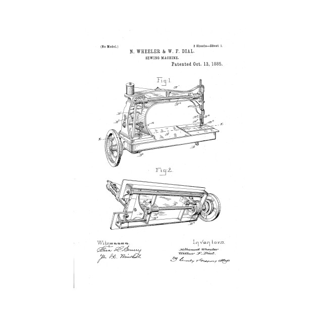 Sewing Machine Patent Drawing Patent TShirt TeePublic Unique Patent For Sewing Machine