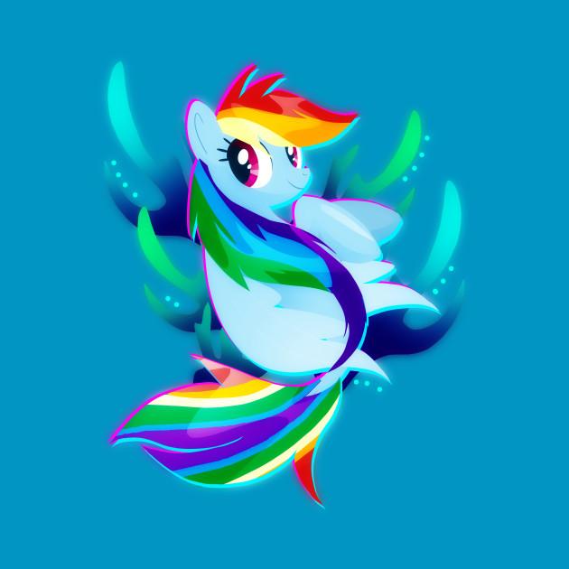Seapony Rainbow Dash
