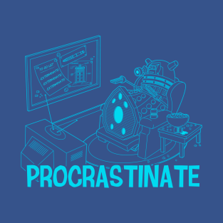 Procrastinate Blueprint t-shirts