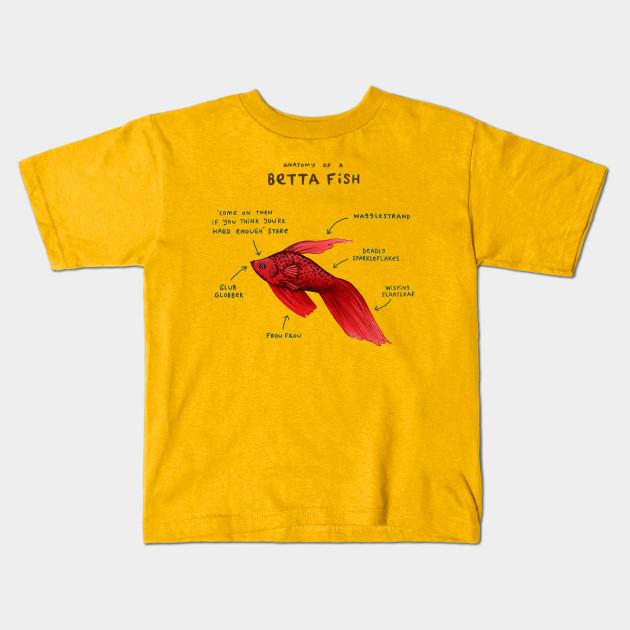 Anatomy of a Betta Fish - Lol - Kids T-Shirt | TeePublic