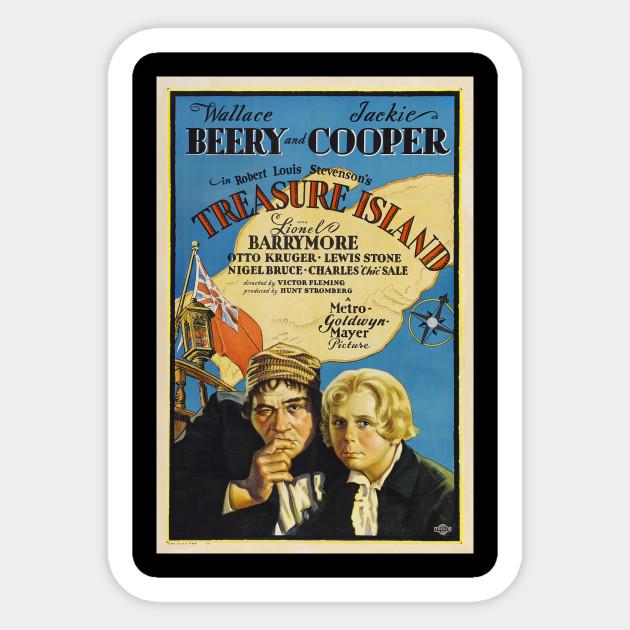Treasue island Lionel Barrymore vintage movie poster