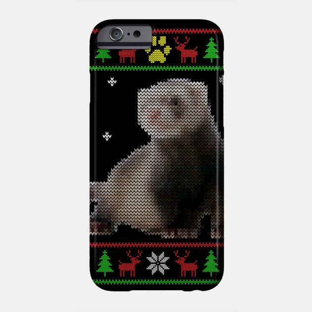 Christmas Ferret.Ugly Sweater Ferret Christmas