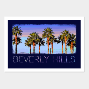01e844f1d Beverly Hills Palm Trees - Cool vintage retro design Posters and Art