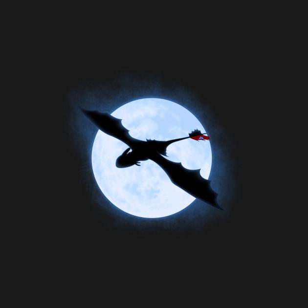 Full Moon Dragon: Full Moon Dragon - Dragon - T-Shirt