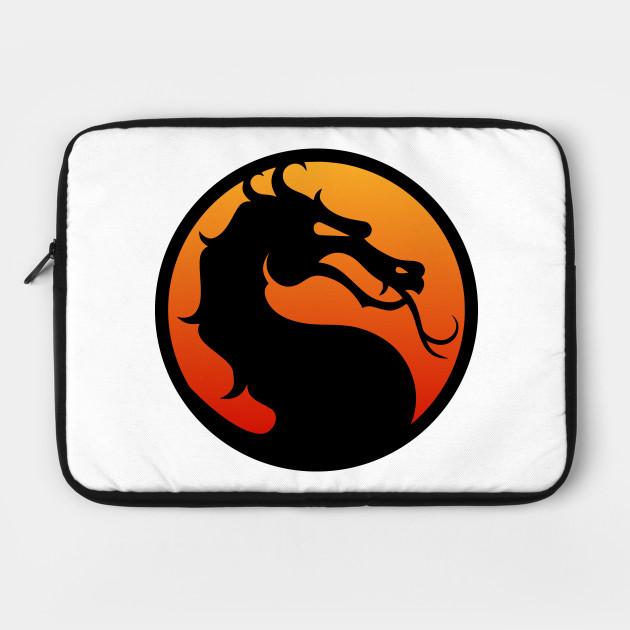 Mortal Kombat Logo With Border Mortal Kombat Laptop Case Teepublic