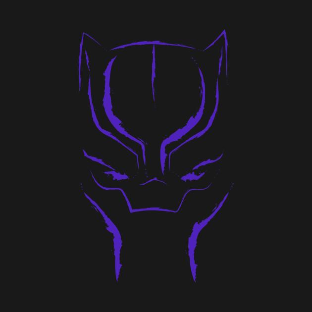 Black Panther Mask: Purple