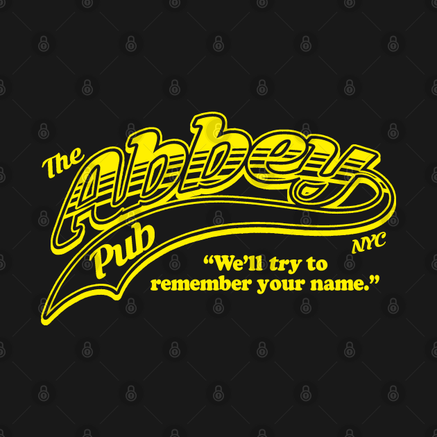 """Abbey Pub NYC - """"Cheers"""" style design."""