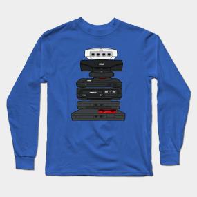 031dd2400a4a Sega Saturn Long Sleeve T-Shirts