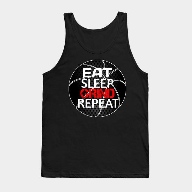 EAT T-SHIRT ADULT KIDS BOYS GIRLS XMAS GIFT TOPS SLEEP REPEAT BASKETBALL