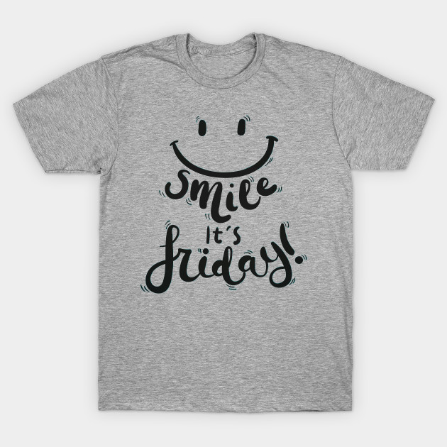 Smile Its Friday Black Text Design With Happy Smiley Face Its