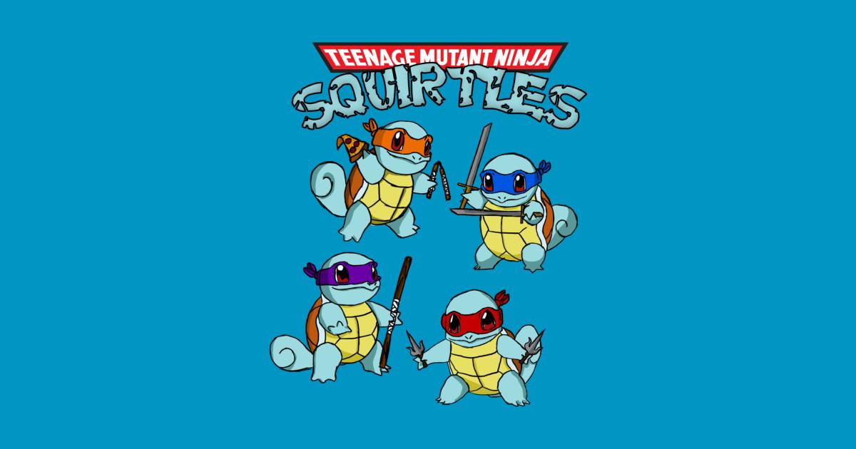 Teenage mutant ninja squirtles ninja squirtles sticker teepublic