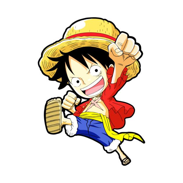 Chibi Luffy - Luffy - T-Shirt | TeePublic