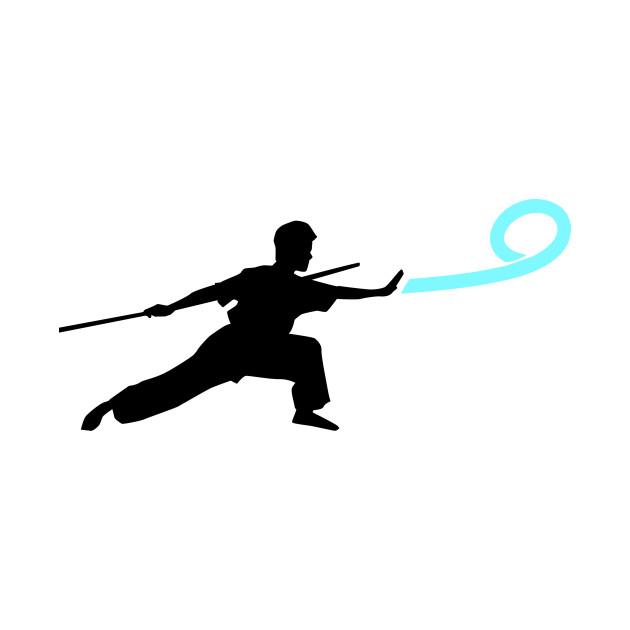 Wushu Wind Force Blow Silhouette