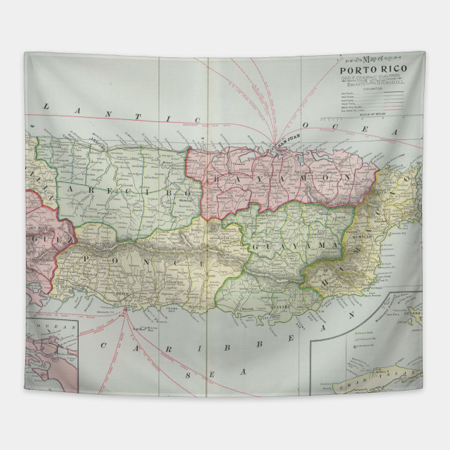 Vintage map of puerto rico 1901 puerto rico map tapestry 2034534 1 gumiabroncs Images