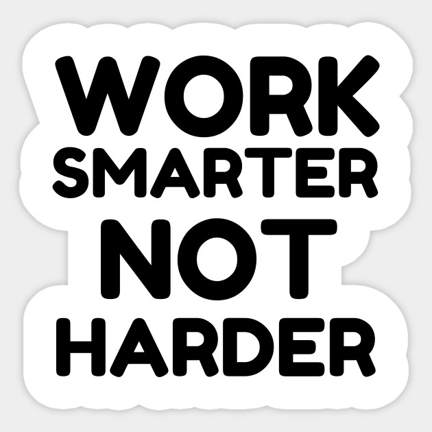 Image result for work smarter, not harder clipart