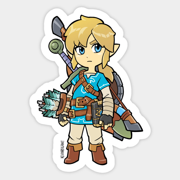 Link breath of the wild sticker