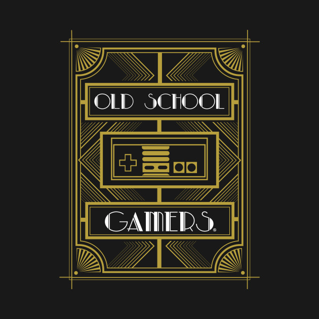 OLD SCHOOL GAMERS - ART DECO - Tpartdecocontest - T-Shirt | TeePublic