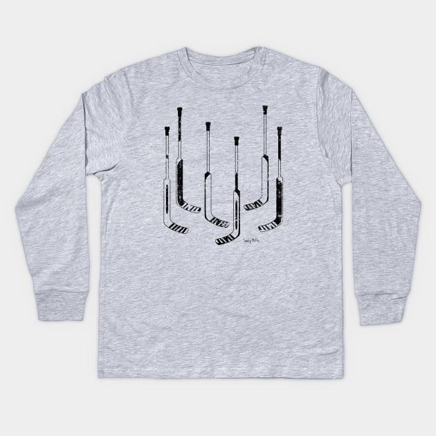 Hockey Goalie Sticks Hockey Goalie Kids Long Sleeve T Shirt