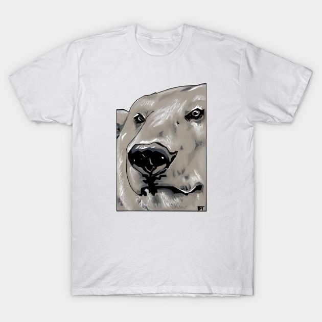 polar bear head polar bear t shirt teepublic