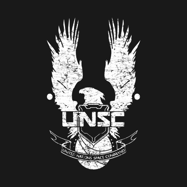 unsc logo halo 4 grunt distressed look unsc logo halo
