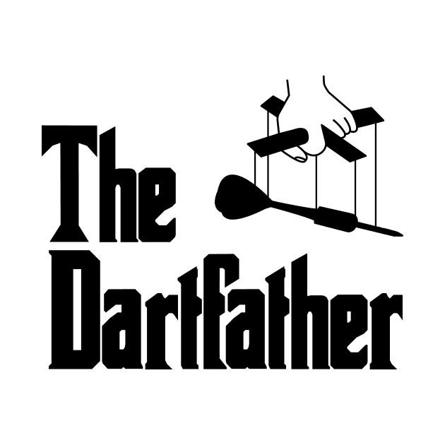 The Dartfather Dartsfather Darts PLayer Club Team Funny Pub Gift