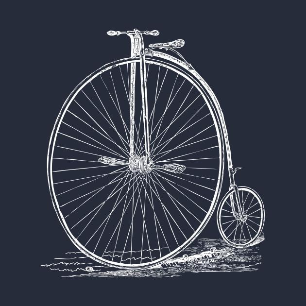 Old Retro Bicycle White