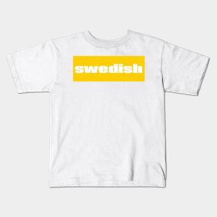Kids Printed T-Shirt Sweden Fan Brand88