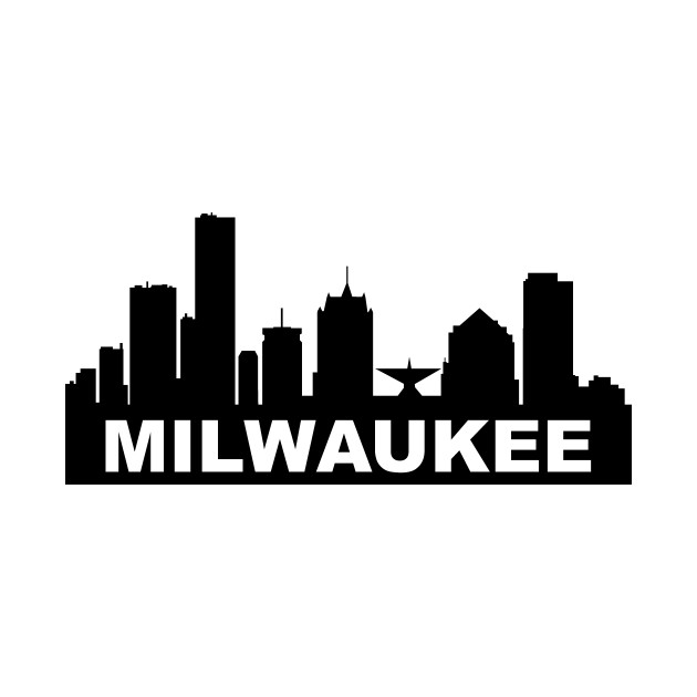 milwaukee wisconsin skyline milwaukee skyline t shirt teepublic