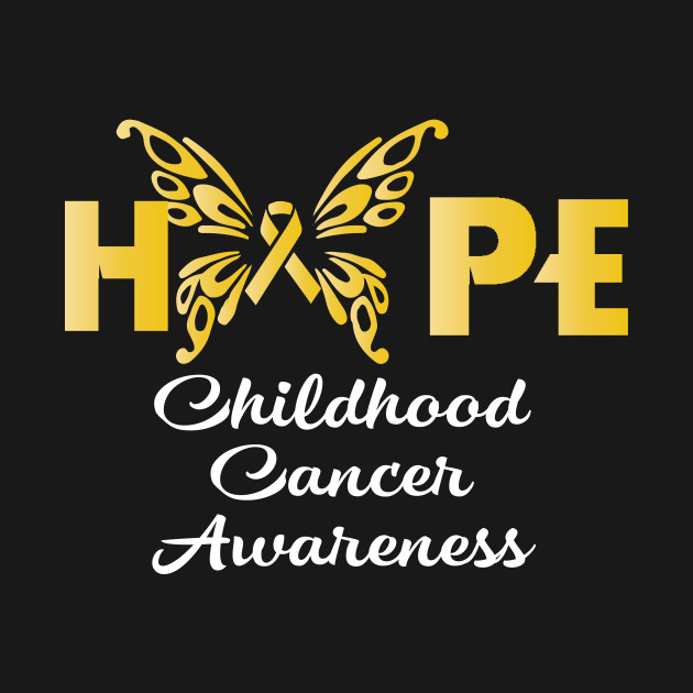 511a77d7137 Hope Childhood Cancer Awareness Shirts Gold Ribbon Butterfly