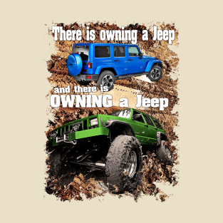 eb922218b8 There is owning a jeep and then there is OWNING A JEEP T-Shirt
