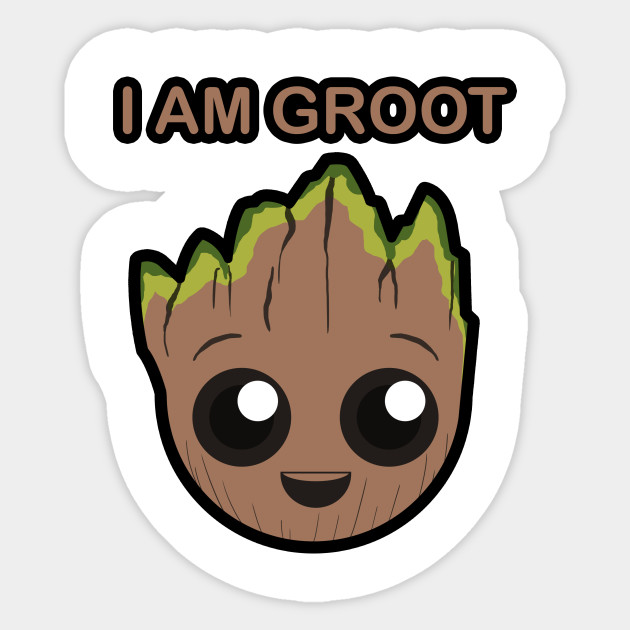 guardians of the galaxy marvel comics Groot iAm Vinyl decal car laptop