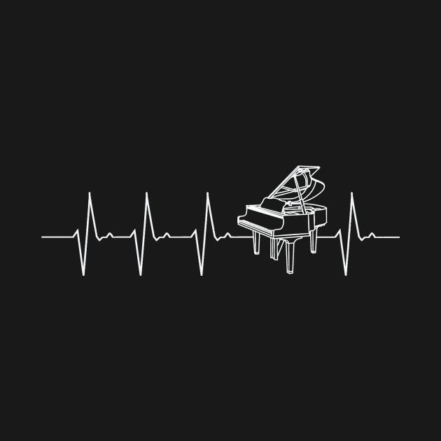 Piano Heartbeat Tshirt