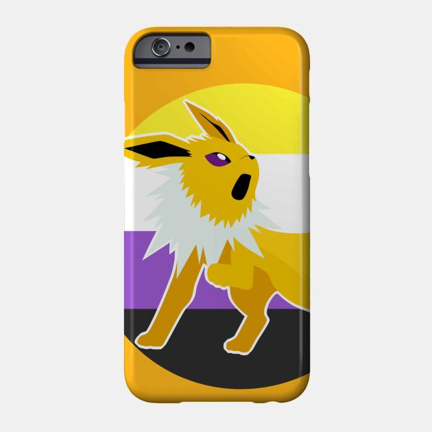 6d35c6fe Jolteon Nonbinary Pride LGBT - Pokemon - Phone Case   TeePublic