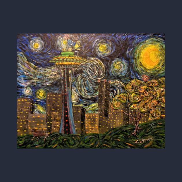c564f298a9 Dedication to Van Gogh (Seattle Starry Night) - Starry Night - Long ...