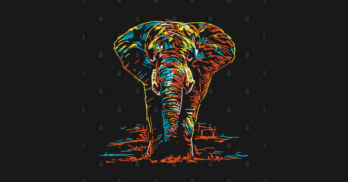 Abstract Colorful Elephant - Elephant - Posters and Art ...