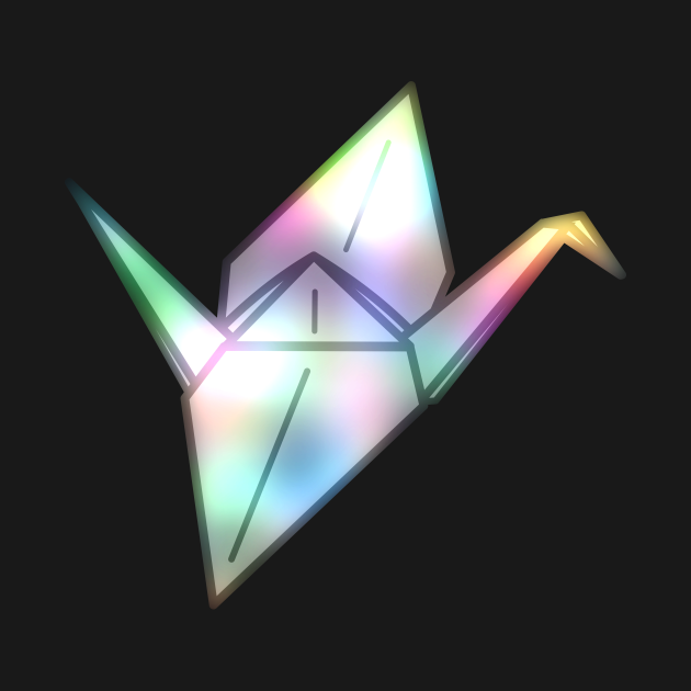 Origami Rainbow Crane