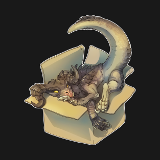 Deathclaw in a Box t-shirts