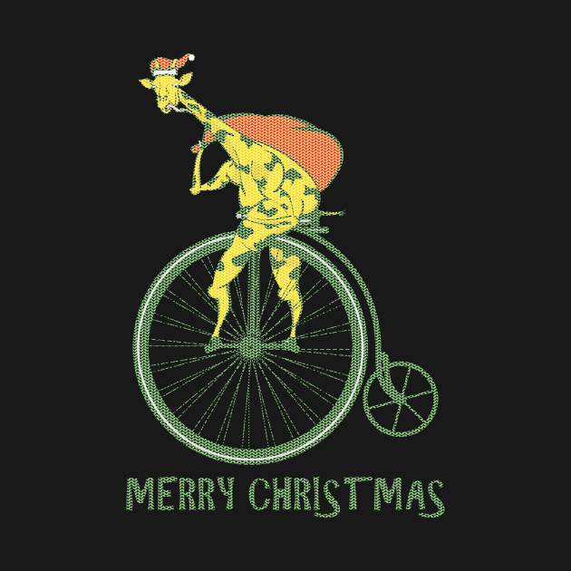 dc14ce64a62c5 Funny Christmas sweater bicycle giraffe Funny Christmas sweater bicycle  giraffe