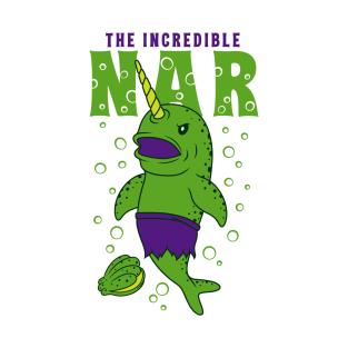 5c0bebdd8b The Incredible Green Narwhal Funny Parody T-Shirt
