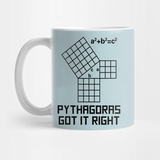 Pythagoras Got It Right - Math - Mug | TeePublic