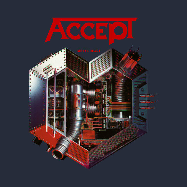 Accept Metal Heart 85 Udo Heavy Metal Band