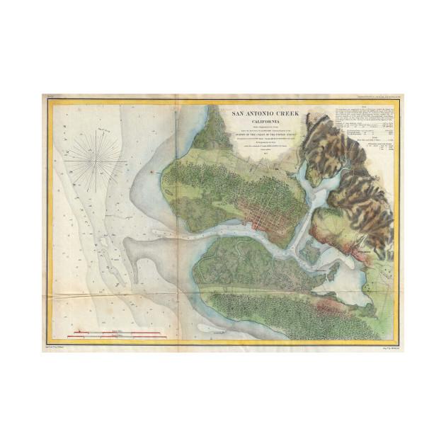Vintage oakland and san antonio creek map 1857 san antonio creek 2019544 1 publicscrutiny Image collections
